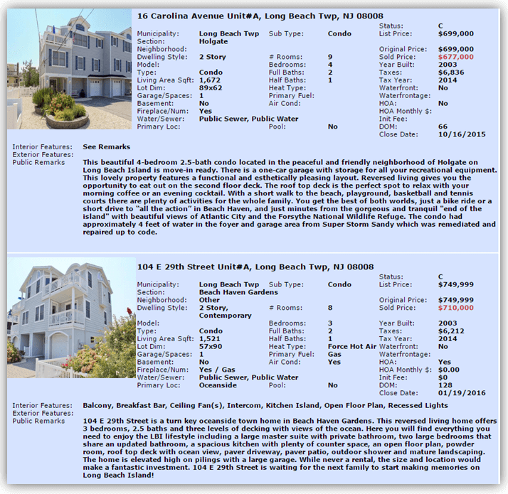 Side By Side Condo | LBI Real Estate Condominiums | LBI NJ Real Estate